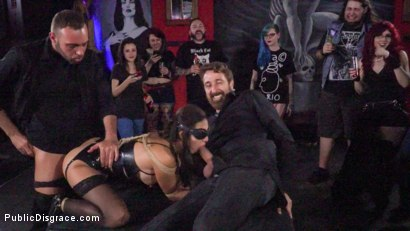 Photo number 16 from Underground Goth Club turns into a Wild Fuck Party! shot for Public Disgrace on Kink.com. Featuring Steve Holmes, Pablo Ferrari, Melody Petite and Frida Sante in hardcore BDSM & Fetish porn.