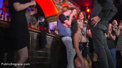 Photo number 3 from Underground Goth Club turns into a Wild Fuck Party! shot for Public Disgrace on Kink.com. Featuring Steve Holmes, Pablo Ferrari, Melody Petite and Frida Sante in hardcore BDSM & Fetish porn.