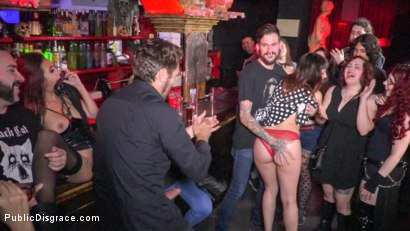 Photo number 7 from Underground Goth Club turns into a Wild Fuck Party! shot for Public Disgrace on Kink.com. Featuring Steve Holmes, Pablo Ferrari, Melody Petite and Frida Sante in hardcore BDSM & Fetish porn.