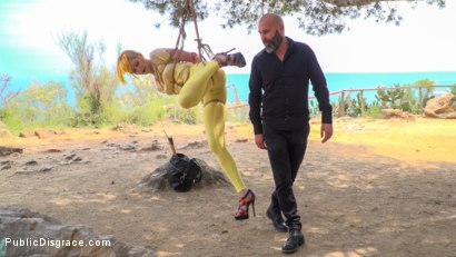 Photo number 2 from Beautiful Spanish Slut Gets Disgraced Like a Pig! - Part 1 shot for Public Disgrace on Kink.com. Featuring Steve Holmes, Liz Rainbow, Max Cortes, Melody Petite, Pablo Ferrari, Frida Sante and Nerea Falco in hardcore BDSM & Fetish porn.