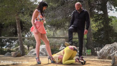 Photo number 11 from Beautiful Spanish Slut Gets Disgraced Like a Pig! - Part 1 shot for Public Disgrace on Kink.com. Featuring Steve Holmes, Liz Rainbow, Max Cortes, Melody Petite, Pablo Ferrari, Frida Sante and Nerea Falco in hardcore BDSM & Fetish porn.