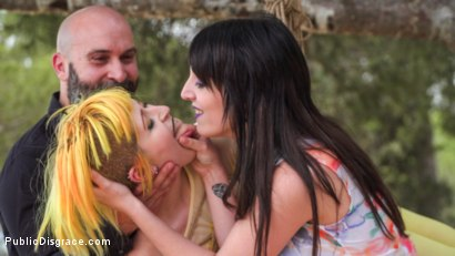 Photo number 5 from Beautiful Spanish Slut Gets Disgraced Like a Pig! - Part 1 shot for Public Disgrace on Kink.com. Featuring Steve Holmes, Liz Rainbow, Max Cortes, Melody Petite, Pablo Ferrari, Frida Sante and Nerea Falco in hardcore BDSM & Fetish porn.