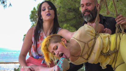 Photo number 7 from Beautiful Spanish Slut Gets Disgraced Like a Pig! - Part 1 shot for Public Disgrace on Kink.com. Featuring Steve Holmes, Liz Rainbow, Max Cortes, Melody Petite, Pablo Ferrari, Frida Sante and Nerea Falco in hardcore BDSM & Fetish porn.