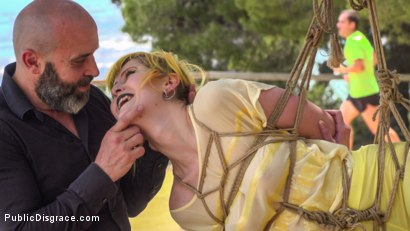 Photo number 3 from Beautiful Spanish Slut Gets Disgraced Like a Pig! - Part 1 shot for Public Disgrace on Kink.com. Featuring Steve Holmes, Liz Rainbow, Max Cortes, Melody Petite, Pablo Ferrari, Frida Sante and Nerea Falco in hardcore BDSM & Fetish porn.