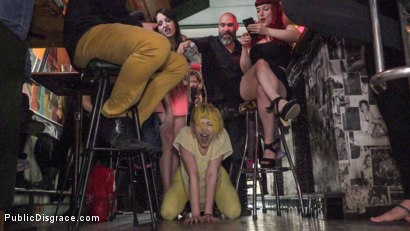 Photo number 2 from Spanish Bar turns into a Filthy Fuck Party! - Part 2 shot for Public Disgrace on Kink.com. Featuring Steve Holmes, Liz Rainbow, Max Cortes, Melody Petite, Pablo Ferrari, Frida Sante and Nerea Falco in hardcore BDSM & Fetish porn.