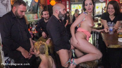 Photo number 10 from Spanish Bar turns into a Filthy Fuck Party! - Part 2 shot for Public Disgrace on Kink.com. Featuring Steve Holmes, Liz Rainbow, Max Cortes, Melody Petite, Pablo Ferrari, Frida Sante and Nerea Falco in hardcore BDSM & Fetish porn.