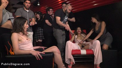 Photo number 12 from Newbie Penelope Gets Suspended, Flogged and Fucked shot for Public Disgrace on Kink.com. Featuring Steve Holmes, Pablo Ferrari, Valentina Bianco, Melody Petite, Max Cortes, Frida Sante and Penelope Cum in hardcore BDSM & Fetish porn.