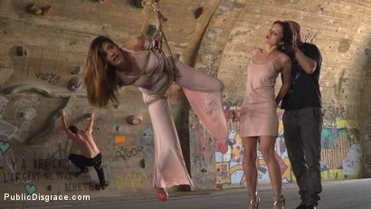 Photo number 1 from Newbie Penelope Gets Suspended, Flogged and Fucked shot for Public Disgrace on Kink.com. Featuring Steve Holmes, Pablo Ferrari, Valentina Bianco, Melody Petite, Max Cortes, Frida Sante and Penelope Cum in hardcore BDSM & Fetish porn.