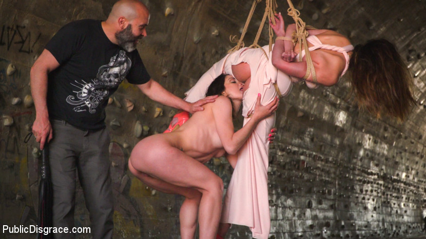 Newbie's Public Disgrace Includes Being Suspended, Flogged and Fucked