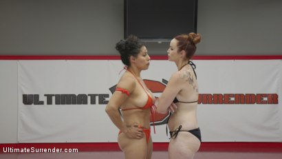 Photo number 5 from Beautiful big Tittied Wrestlers Struggle to make each other cum shot for Ultimate Surrender on Kink.com. Featuring Bella Rossi and Izamar Gutierrez in hardcore BDSM & Fetish porn.