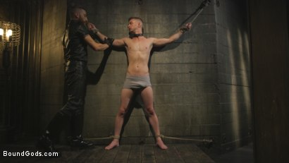 Photo number 1 from Slave boy with a giant cock submits to the whims of Mr Keys shot for Bound Gods on Kink.com. Featuring Sebastian Keys and Kyler Ash in hardcore BDSM & Fetish porn.