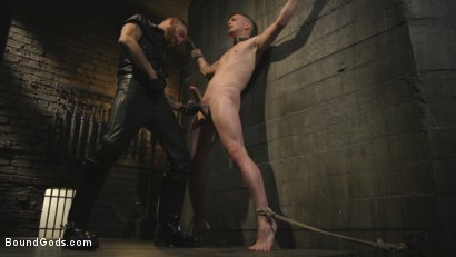 Photo number 4 from Slave boy with a giant cock submits to the whims of Mr Keys shot for Bound Gods on Kink.com. Featuring Sebastian Keys and Kyler Ash in hardcore BDSM & Fetish porn.