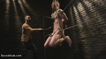 Photo number 10 from Slave boy with a giant cock submits to the whims of Mr Keys shot for Bound Gods on Kink.com. Featuring Sebastian Keys and Kyler Ash in hardcore BDSM & Fetish porn.