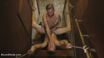 Photo number 9 from Perverse Gardener Brutally Torments Southern Straight Boy  shot for Bound Gods on Kink.com. Featuring Zane Anders and Sebastian Keys in hardcore BDSM & Fetish porn.