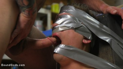 Photo number 9 from Sadistic Parole Gives Creepy Coworker a Brutal Lesson shot for Bound Gods on Kink.com. Featuring Max Cameron and Tyler Rush in hardcore BDSM & Fetish porn.