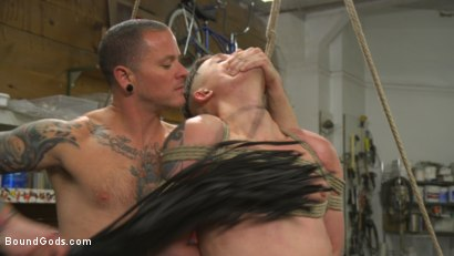Photo number 11 from Sadistic Parole Gives Creepy Coworker a Brutal Lesson shot for Bound Gods on Kink.com. Featuring Max Cameron and Tyler Rush in hardcore BDSM & Fetish porn.