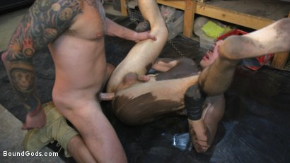Photo number 14 from Sadistic Parole Gives Creepy Coworker a Brutal Lesson shot for Bound Gods on Kink.com. Featuring Max Cameron and Tyler Rush in hardcore BDSM & Fetish porn.