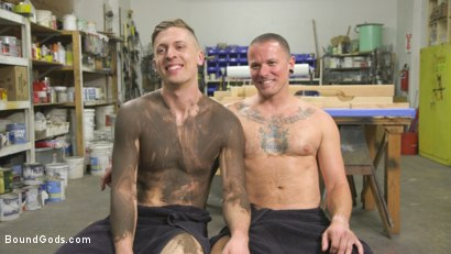 Photo number 15 from Sadistic Parole Gives Creepy Coworker a Brutal Lesson shot for Bound Gods on Kink.com. Featuring Max Cameron and Tyler Rush in hardcore BDSM & Fetish porn.