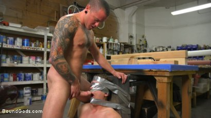 Photo number 10 from Sadistic Parole Gives Creepy Coworker a Brutal Lesson shot for Bound Gods on Kink.com. Featuring Max Cameron and Tyler Rush in hardcore BDSM & Fetish porn.