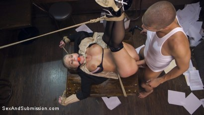 Photo number 9 from The Anal Audit shot for Sex And Submission on Kink.com. Featuring Christie Stevens and Xander Corvus in hardcore BDSM & Fetish porn.