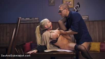 Photo number 6 from The Anal Audit shot for Sex And Submission on Kink.com. Featuring Christie Stevens and Xander Corvus in hardcore BDSM & Fetish porn.