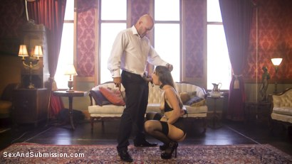 Photo number 1 from A Slave's Love shot for Sex And Submission on Kink.com. Featuring Nora Riley and Derrick Pierce in hardcore BDSM & Fetish porn.