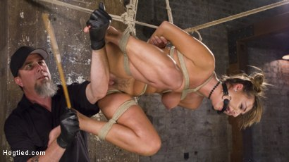 Photo number 2 from Princess Revisits Hogtied to Prove Herself to The Pope shot for Hogtied on Kink.com. Featuring Charlotte Cross and The Pope in hardcore BDSM & Fetish porn.