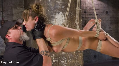Photo number 11 from Princess Revisits Hogtied to Prove Herself to The Pope shot for Hogtied on Kink.com. Featuring Charlotte Cross and The Pope in hardcore BDSM & Fetish porn.