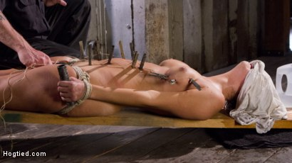 Photo number 13 from Princess Revisits Hogtied to Prove Herself to The Pope shot for Hogtied on Kink.com. Featuring Charlotte Cross and The Pope in hardcore BDSM & Fetish porn.