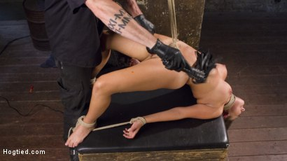 Photo number 15 from Princess Revisits Hogtied to Prove Herself to The Pope shot for Hogtied on Kink.com. Featuring Charlotte Cross and The Pope in hardcore BDSM & Fetish porn.
