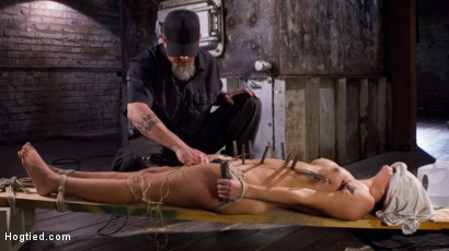 Photo number 4 from Princess Revisits Hogtied to Prove Herself to The Pope shot for Hogtied on Kink.com. Featuring Charlotte Cross and The Pope in hardcore BDSM & Fetish porn.