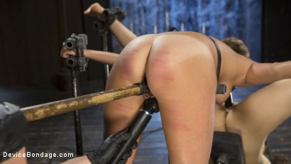 Photo number 12 from Flesh of Three shot for Device Bondage on Kink.com. Featuring Lilith Luxe, Veruca James, Charlotte Cross and The Pope in hardcore BDSM & Fetish porn.