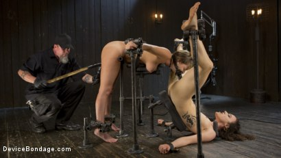 Photo number 4 from Flesh of Three shot for Device Bondage on Kink.com. Featuring Lilith Luxe, Veruca James, Charlotte Cross and The Pope in hardcore BDSM & Fetish porn.