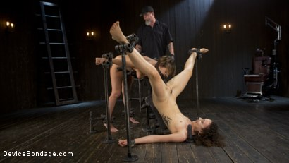 Photo number 15 from Flesh of Three shot for Device Bondage on Kink.com. Featuring Lilith Luxe, Veruca James, Charlotte Cross and The Pope in hardcore BDSM & Fetish porn.