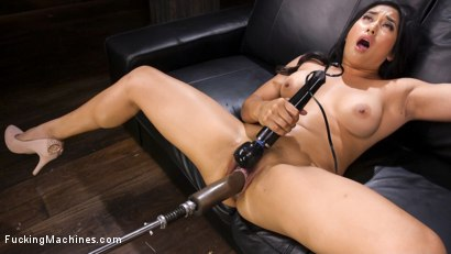 Photo number 15 from Mega Babe Gets a Full Throttle Machine Fucking!! shot for Fucking Machines on Kink.com. Featuring Mia Li in hardcore BDSM & Fetish porn.