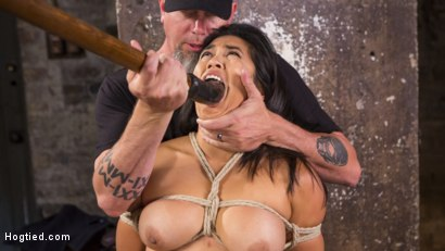 Photo number 6 from Brutal Hair Suspension, Grueling Bondage, Torment, and Orgasms!!! shot for Hogtied on Kink.com. Featuring Mia Little and The Pope in hardcore BDSM & Fetish porn.