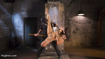 Photo number 13 from Brutal Hair Suspension, Grueling Bondage, Torment, and Orgasms!!! shot for Hogtied on Kink.com. Featuring Mia Li and The Pope in hardcore BDSM & Fetish porn.