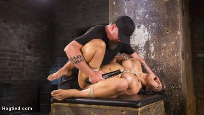 Photo number 8 from Brutal Hair Suspension, Grueling Bondage, Torment, and Orgasms!!! shot for Hogtied on Kink.com. Featuring Mia Li and The Pope in hardcore BDSM & Fetish porn.