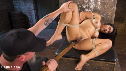 Photo number 10 from Brutal Hair Suspension, Grueling Bondage, Torment, and Orgasms!!! shot for Hogtied on Kink.com. Featuring Mia Li and The Pope in hardcore BDSM & Fetish porn.