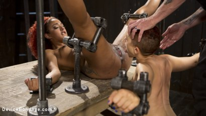 Photo number 4 from Two Sluts Suffer in Grueling Bondage with Squirting Orgasms shot for Device Bondage on Kink.com. Featuring Ingrid Mouth, Daisy Ducati and The Pope in hardcore BDSM & Fetish porn.