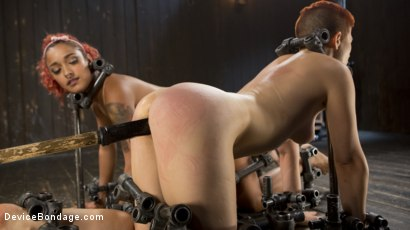 Photo number 6 from Two Sluts Suffer in Grueling Bondage with Squirting Orgasms shot for Device Bondage on Kink.com. Featuring Ingrid Mouth, Daisy Ducati and The Pope in hardcore BDSM & Fetish porn.