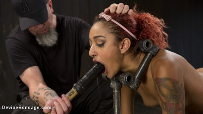 Photo number 10 from Two Sluts Suffer in Grueling Bondage with Squirting Orgasms shot for Device Bondage on Kink.com. Featuring Ingrid Mouth, Daisy Ducati and The Pope in hardcore BDSM & Fetish porn.