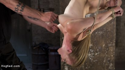 Photo number 9 from Brutal Predicament Bondage, Relentless Torment, and Screaming Orgasms! shot for Hogtied on Kink.com. Featuring Ashley Lane and The Pope in hardcore BDSM & Fetish porn.