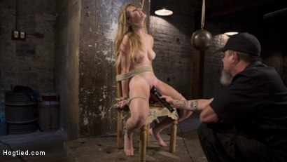 Photo number 11 from Brutal Predicament Bondage, Relentless Torment, and Screaming Orgasms! shot for Hogtied on Kink.com. Featuring Ashley Lane and The Pope in hardcore BDSM & Fetish porn.