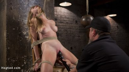 Photo number 12 from Brutal Predicament Bondage, Relentless Torment, and Screaming Orgasms! shot for Hogtied on Kink.com. Featuring Ashley Lane and The Pope in hardcore BDSM & Fetish porn.