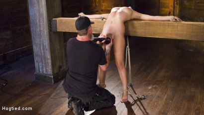 Photo number 3 from College Girl/Pain Slut Suffers in EXTREME Bondage & Brutal Domination shot for Hogtied on Kink.com. Featuring Roxanne Rae and The Pope in hardcore BDSM & Fetish porn.