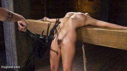 Photo number 1 from College Girl/Pain Slut Suffers in EXTREME Bondage & Brutal Domination shot for Hogtied on Kink.com. Featuring Roxanne Rae and The Pope in hardcore BDSM & Fetish porn.