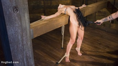 Photo number 4 from College Girl/Pain Slut Suffers in EXTREME Bondage & Brutal Domination shot for Hogtied on Kink.com. Featuring Roxanne Rae and The Pope in hardcore BDSM & Fetish porn.