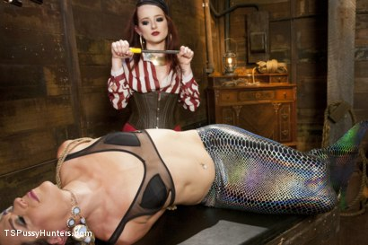 Photo number 12 from Mermaid Cock punishment for Captain who Torments the Syren shot for TS Pussy Hunters on Kink.com. Featuring Maci May and Kelli Lox in hardcore BDSM & Fetish porn.
