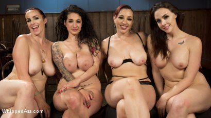 Photo number 22 from Dyke Bar 4: Wet T-shirt Contest! shot for Whipped Ass on Kink.com. Featuring Chanel Preston, Bella Rossi, Mistress Kara and Arabelle Raphael in hardcore BDSM & Fetish porn.